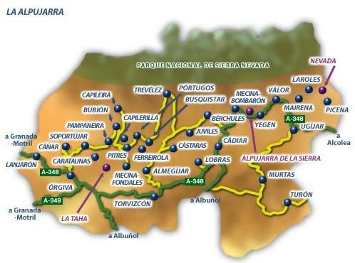 Mapa Alpujarras