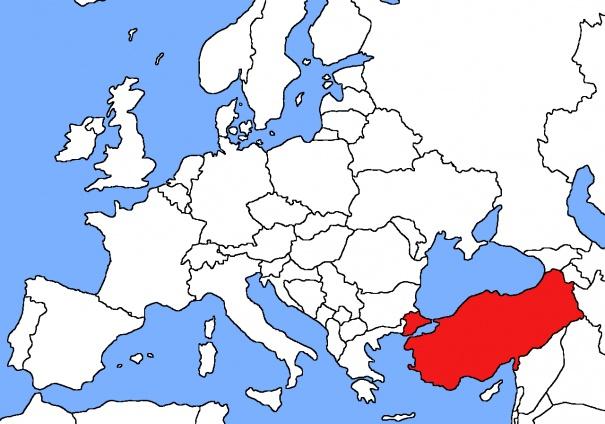 mapa Turkia