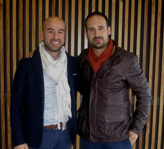 Con Javier Aceituno
